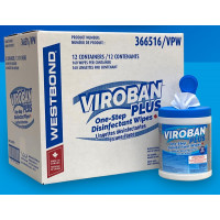 VIROBAN PLUS One-Step Disinfectant Wipes