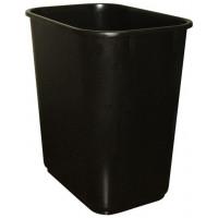 Medium Plastic Wastebasket (Black)