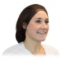 Brown Heavy Weight Poly Hairnet - 27""