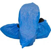 Blue Cast Polyethylene Shoe Cover w/Tread (XL-XXL)