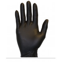 Black Powder Free Nitrile Gloves (5.5 mil, S-XXL)