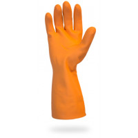 "28mil Orange 12""Neoprene Latex Blend FL Glove - Large"