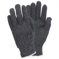 Gray Medium Weight String Knit Gloves - Mens