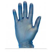 Blue Powdered Vinyl Gloves (3.2 mil, S-XL)