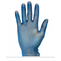 Blue Powder Free Vinyl Gloves (4 mil, S-XXL)