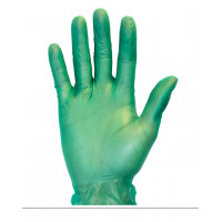 Green Powder Free Vinyl Gloves (4 Mil, S-XL)