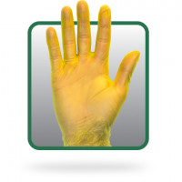 Yellow PF Vinyl Gloves - XL