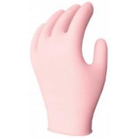 3 Mil - Pink PF Nitrile Gloves (L)