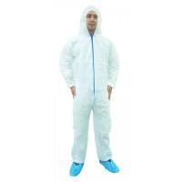 White Polypropylene Coverall w/hood (M-XXL)